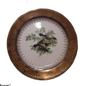 22kt Plated Georgian China Nautilus Plate
